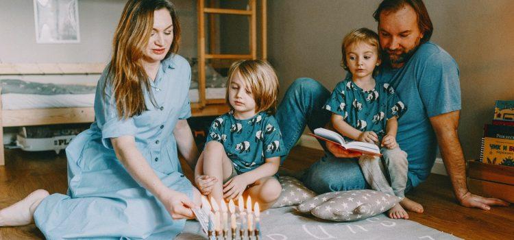 famille maison mouchoir pour enfant